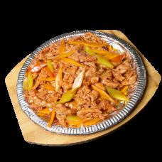 А48. Ароматная говядина на чугунной сковороде 铁板牛肉