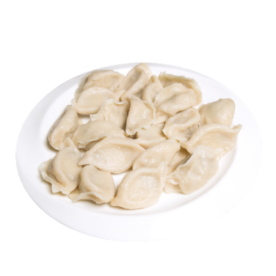 Китайские пельмени с начинкой из говядины, кинзы и зел. лука 牛肉香菜水饺