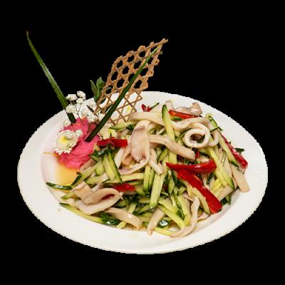 Салат из кальмаров с огурцами 鱿鱼瓜丝