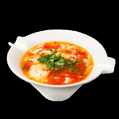 Суп с томатами и яйцом 木须柿子汤